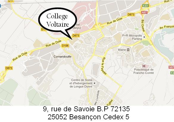 localisation du college